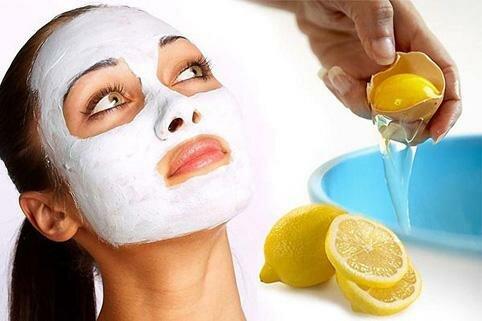 Маска яичный белок и лимон