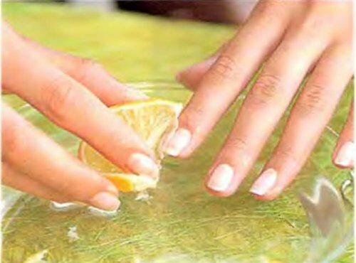 укрепление ногтей лимонным соком