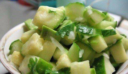 салат из кабачков с яблоками