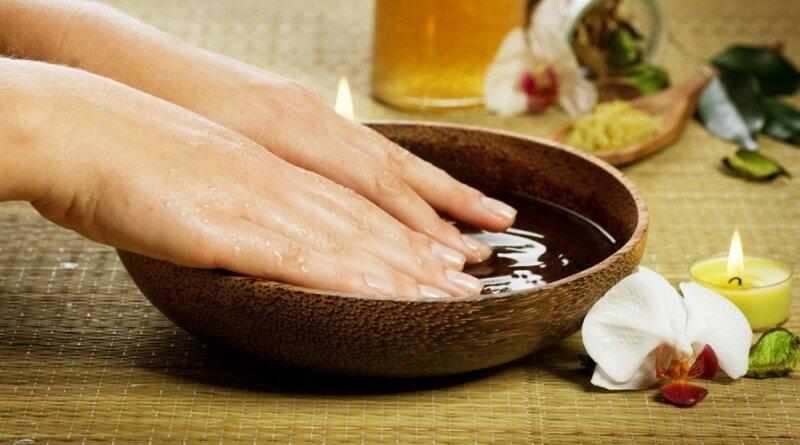 укрепление ногтей солью