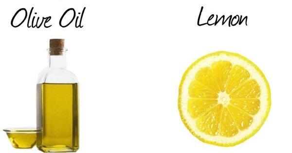 Маска из оливкового масла и лимонного сока